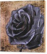 Black Rose Eternal   Wood Print by David Dehner