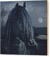 Black Thunder Wood Print