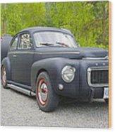 Black Volvo Wood Print