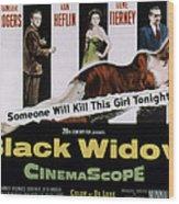 Black Widow, Ginger Rogers, Van Heflin Wood Print by Everett