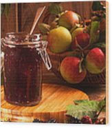 Blackberry And Apple Jam Wood Print by Amanda Elwell