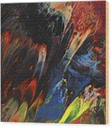 Blackbird Rainbow Blitz Wood Print