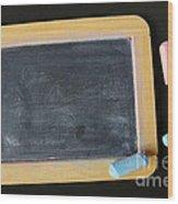Blackboard Chalk Wood Print by Carlos Caetano