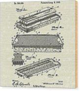 Blackboard Eraser 1893 Patent Art Wood Print