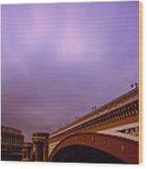 Blackfriars Bridge Wood Print