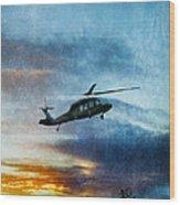 Blackhawk Helicopter Wood Print