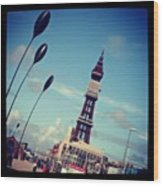 Blackpool Tower Wood Print by Chris Jones