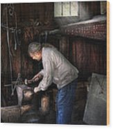 Blacksmith - Tinkering With Metal  Wood Print