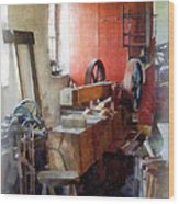 Blacksmith Shop Near Windows Wood Print