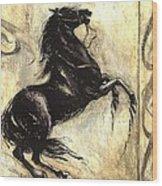 Blacky Wood Print