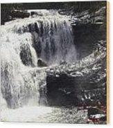 Blad River Falls Tellico Plains  Wood Print