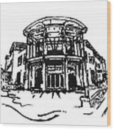 Blair Public Library In Fayetteville Ar Wood Print