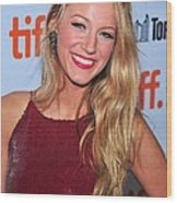 Blake Lively At Arrivals For The Town Wood Print by Everett