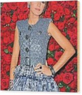 Blake Lively Wearing A Chanel Couture Wood Print by Everett