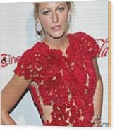 Blake Lively Wearing A Marchesa Dress Wood Print by Everett