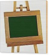 Blank Chalkboard In Wood Frame Wood Print by Blink Images