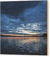 Blanket Of Blue Wood Print