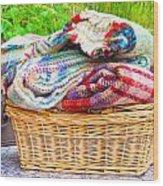 Blankets Wood Print
