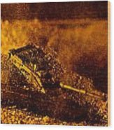 Blast On The Desert Wood Print