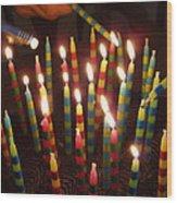 Blazing Amazing Birthday Candles Wood Print