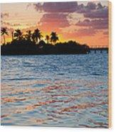 Blazing Skies In Islamorada Wood Print