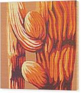 Blazing Sun Wood Print