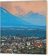 Bled City And Breg. Slovenia Wood Print