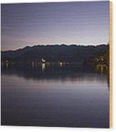 Bled Lake At Dusk Wood Print