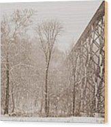 Blending In Wood Print by Cheryl Helms