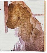 Blind Dog Winston Wood Print