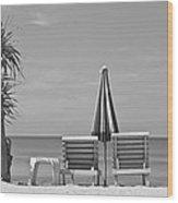 Bliss Is The Beach Wood Print by Georgia Fowler