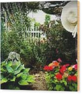 Blissful Garden Wood Print
