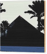 Blk And Wt Pyramid3 Wood Print
