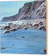 Block Island Surf Wood Print