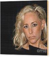 Blond Woman Wood Print