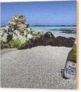 Blonde On The Beach  Wood Print
