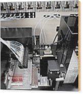 Blood Analysis Machine Wood Print