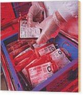Blood Storage Wood Print