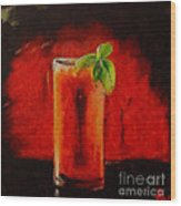 Bloody Mary Coctail Wood Print