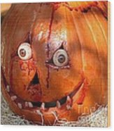 Bloody Pumpkin Wood Print