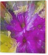 Bloom Zoom Wood Print by Charles Warren