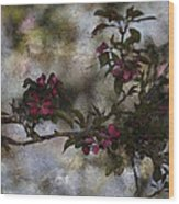 Blooming Branches Wood Print
