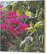 Blossoms And Breadfruit Wood Print
