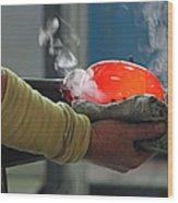 Blowing Glass IIi Wood Print