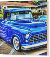 Blue 1956 Chevy Pickup Wood Print