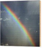 Blue A320 Over The Rainbow Wood Print