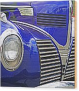 Blue And Chrome Nose Wood Print