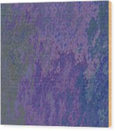 Blue And Purple Stone Abstract Wood Print