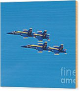 Blue Angels 3 Wood Print