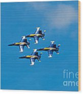 Blue Angels 4 Wood Print